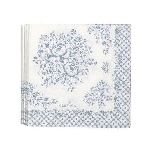 Greengate Stephanie dusty blue servetti*